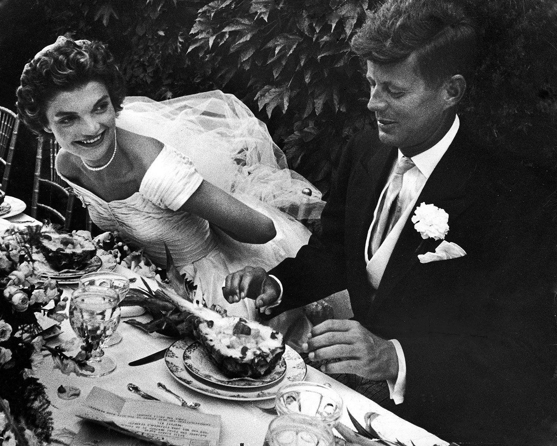 Jackie kennedy wedding dress on display  Jacqueline and John F Kennedy  Wedding Couple  Pinterest  Weddings