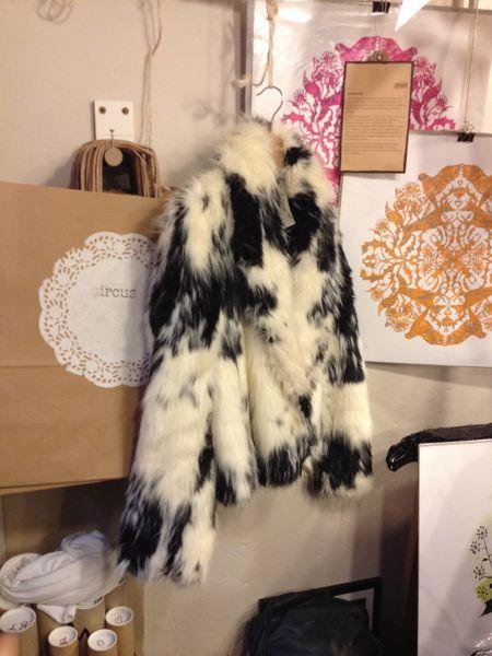 6a858620d Black and white fake fur jacket. Piebald | Fur and Snakeskin | Fur ...