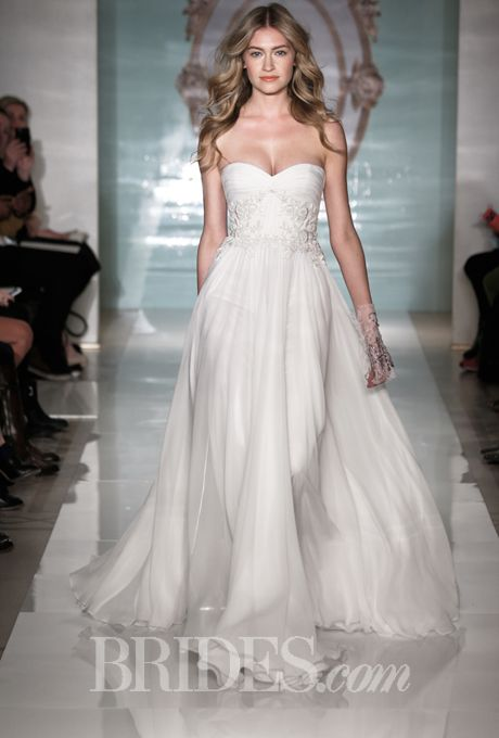 Reem acra spring 2015 bodice wedding dress and neckline reem acra spring 2015 chiffon wedding dresseswedding junglespirit Image collections