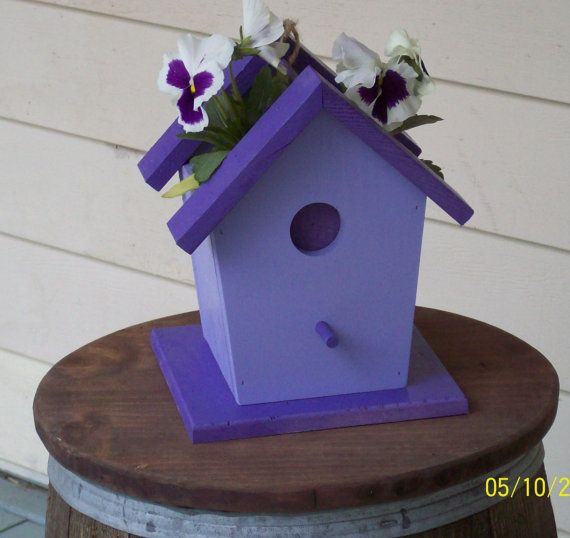 Birdhouse Planter by BWoodworks on Etsy, $25.00