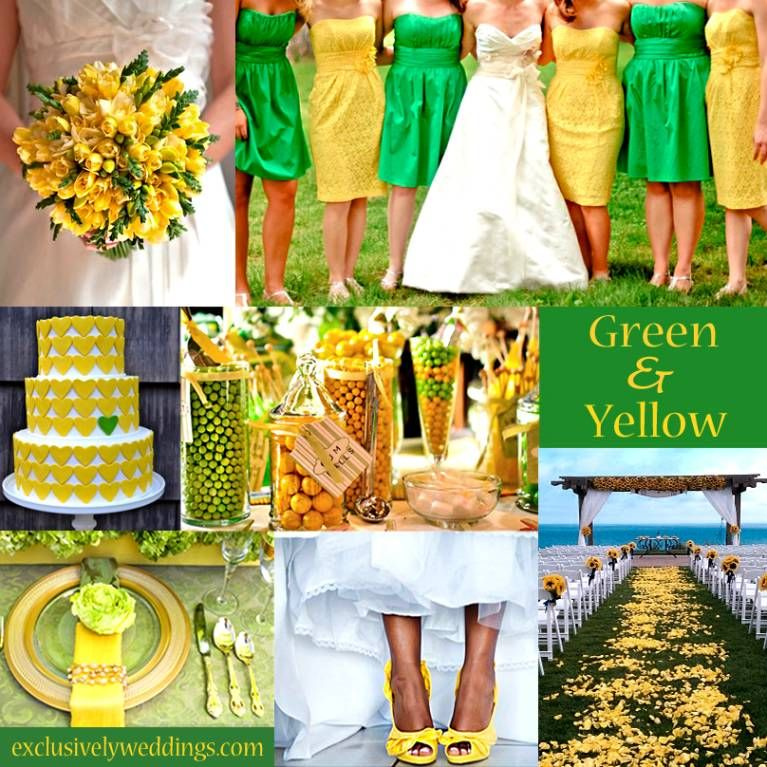 Lime Green And Yellow Wedding Decorations Google Search