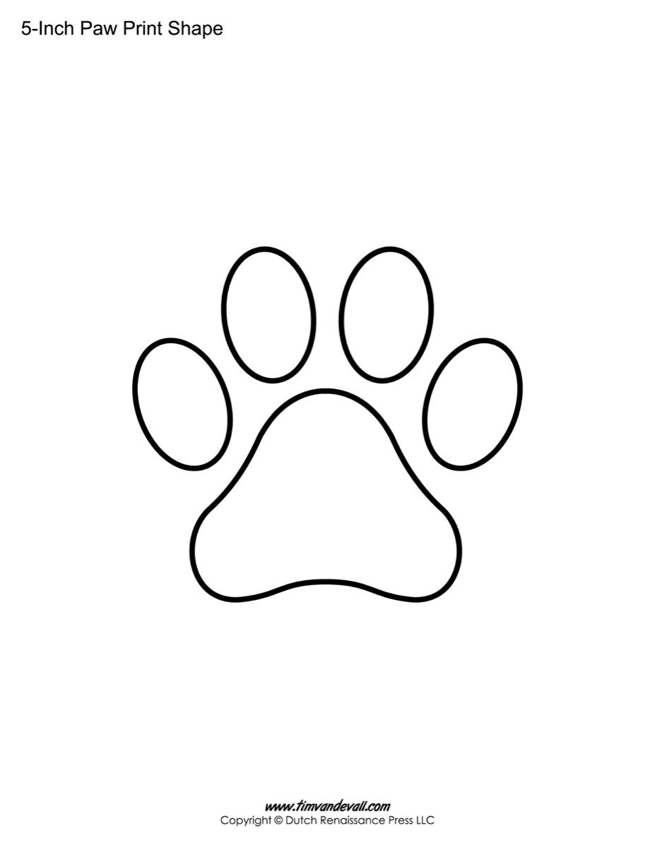 Paw Print Shape Coloring Pages To Print Paw Template Paw Patrol Badge