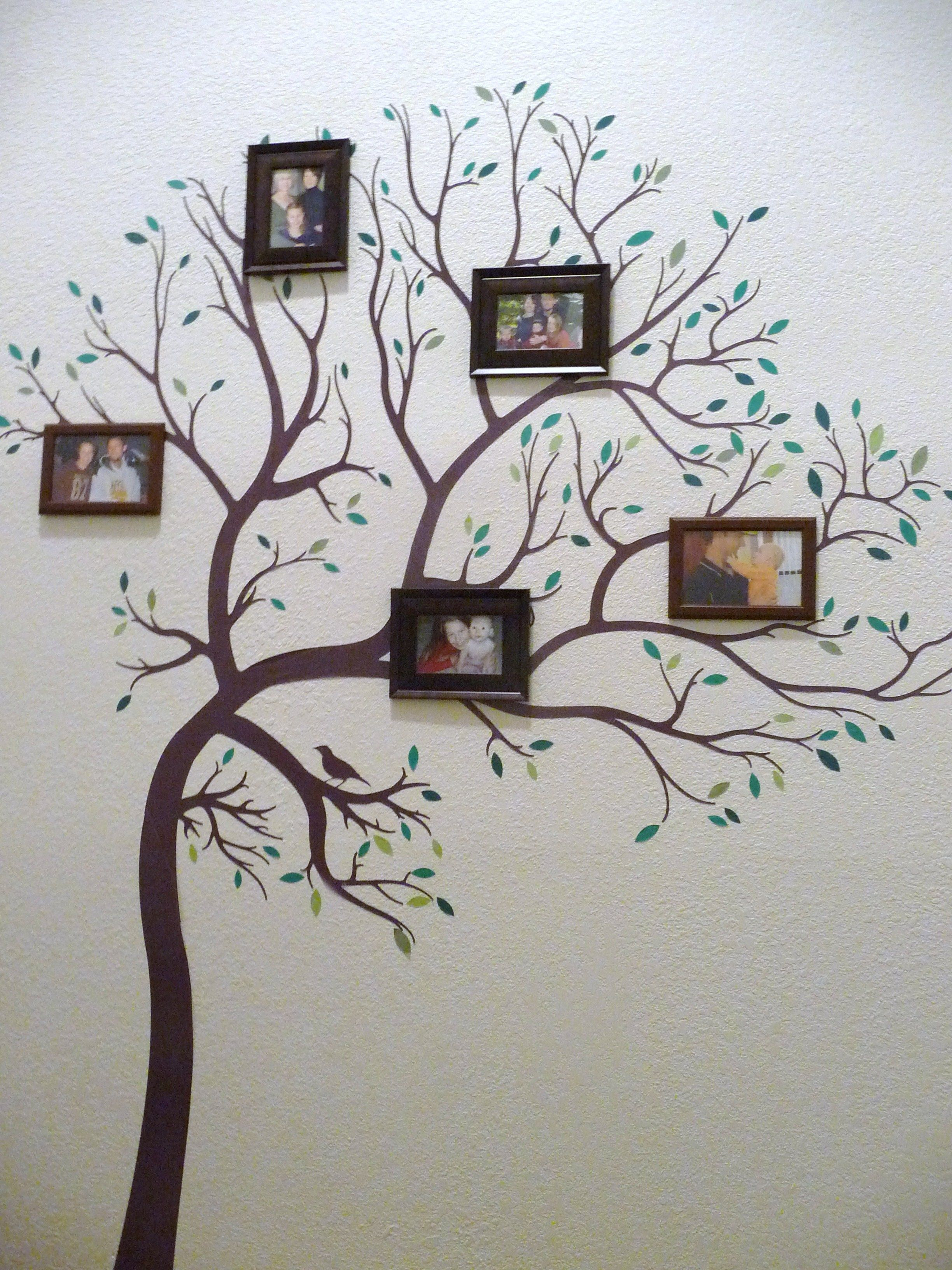 Added X Frames To A Vinyl Wallart Tree To Make Our Family Tree - How to make vinyl wall art with cricut