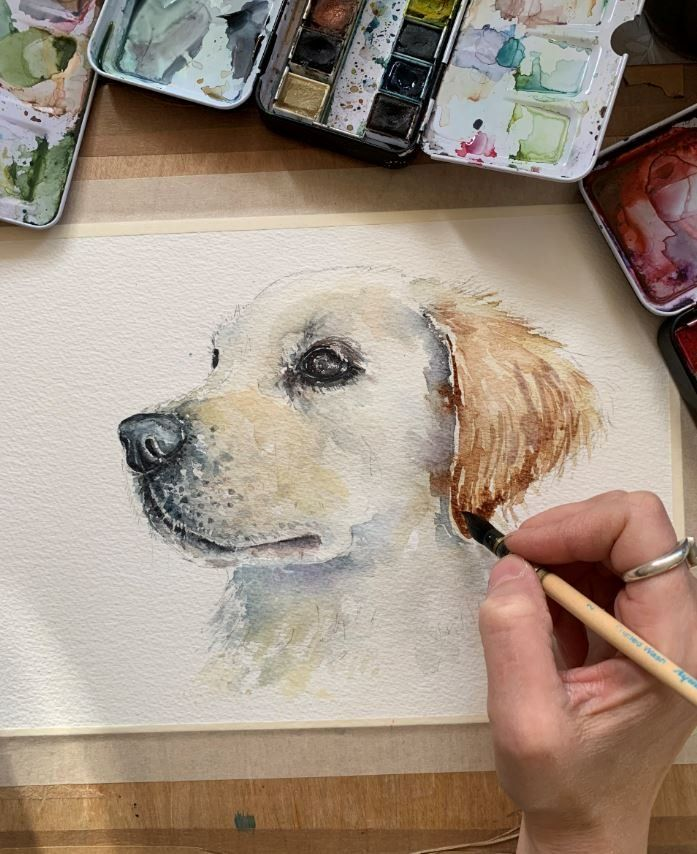Watercolour Dog Tutorial: A Lesson with Kathryn Coyle - Create & Craft Blog