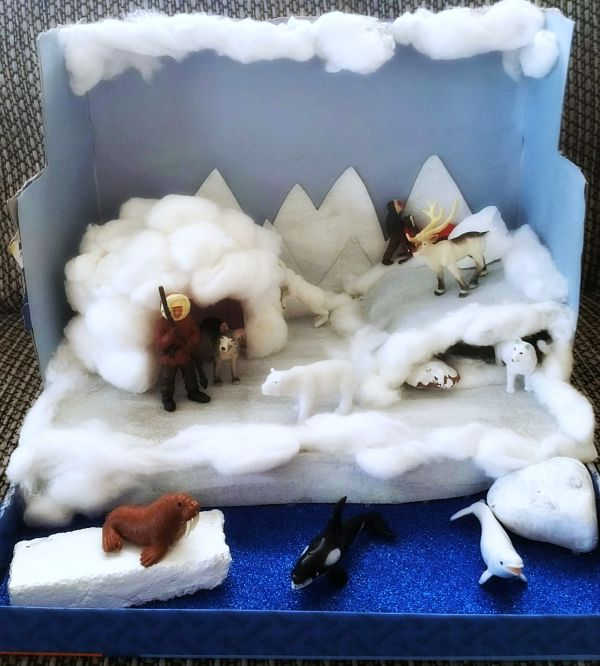 Kids Diorama With Details: Making An Arctic Diorama