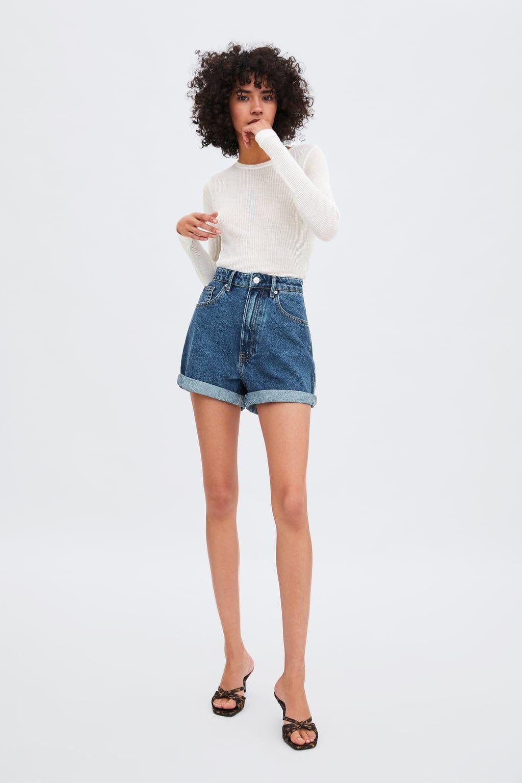 adc9da8703 BERMUDA MOM FIT AUTHENTIC DENIM in 2019 | Wearables | Mom jeans ...