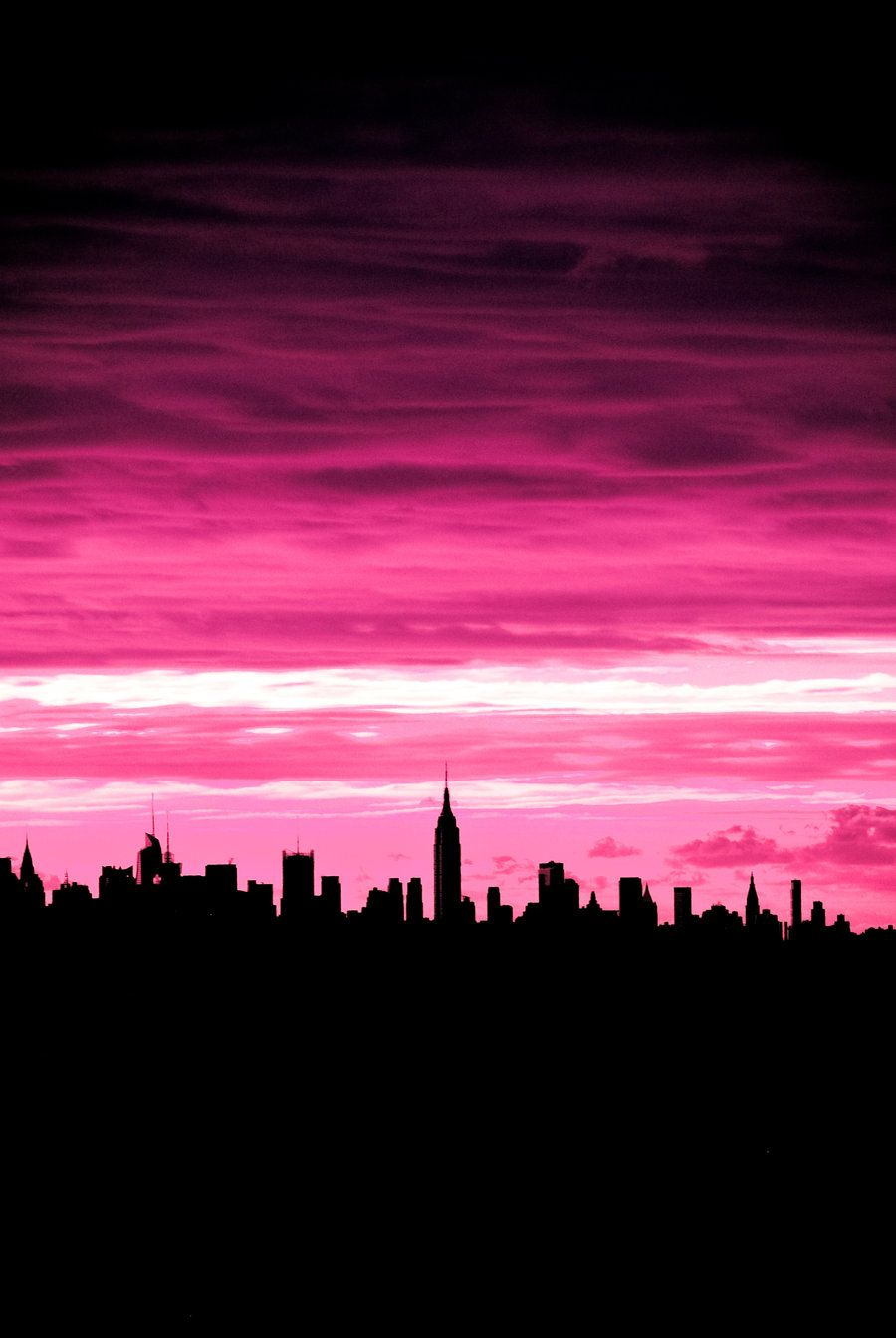 Pink New York City With Images Pink Sky Pink Aesthetic