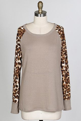 The Raglan Leopard-Light Gray