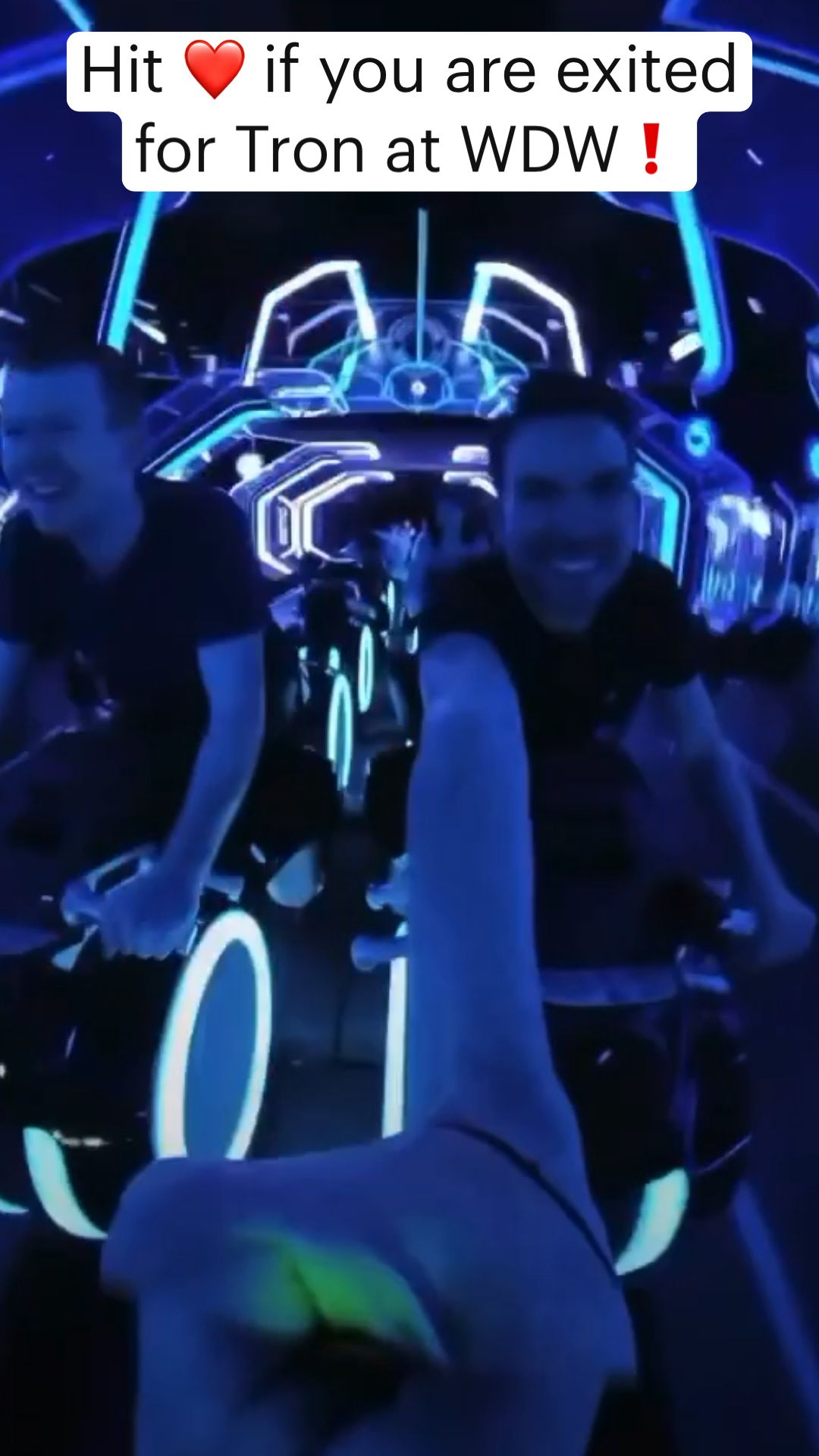 Hit ❤️ if you are exited  for Tron at WDW❗️