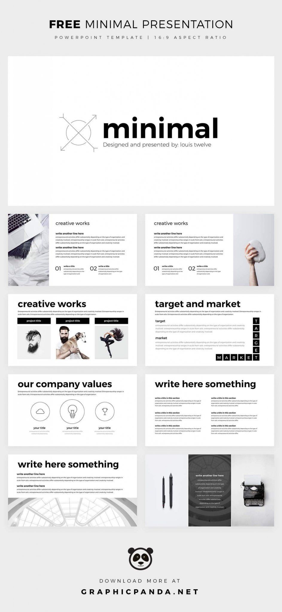 Free Minimal Powerpoint Free Keynote Template Simple