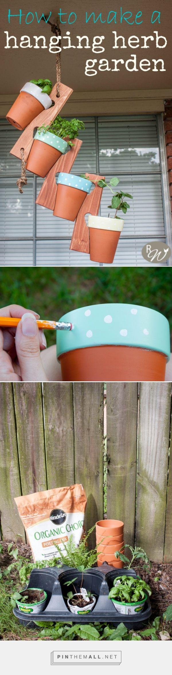 How to make a hanging herb garden   therusticwillow.com