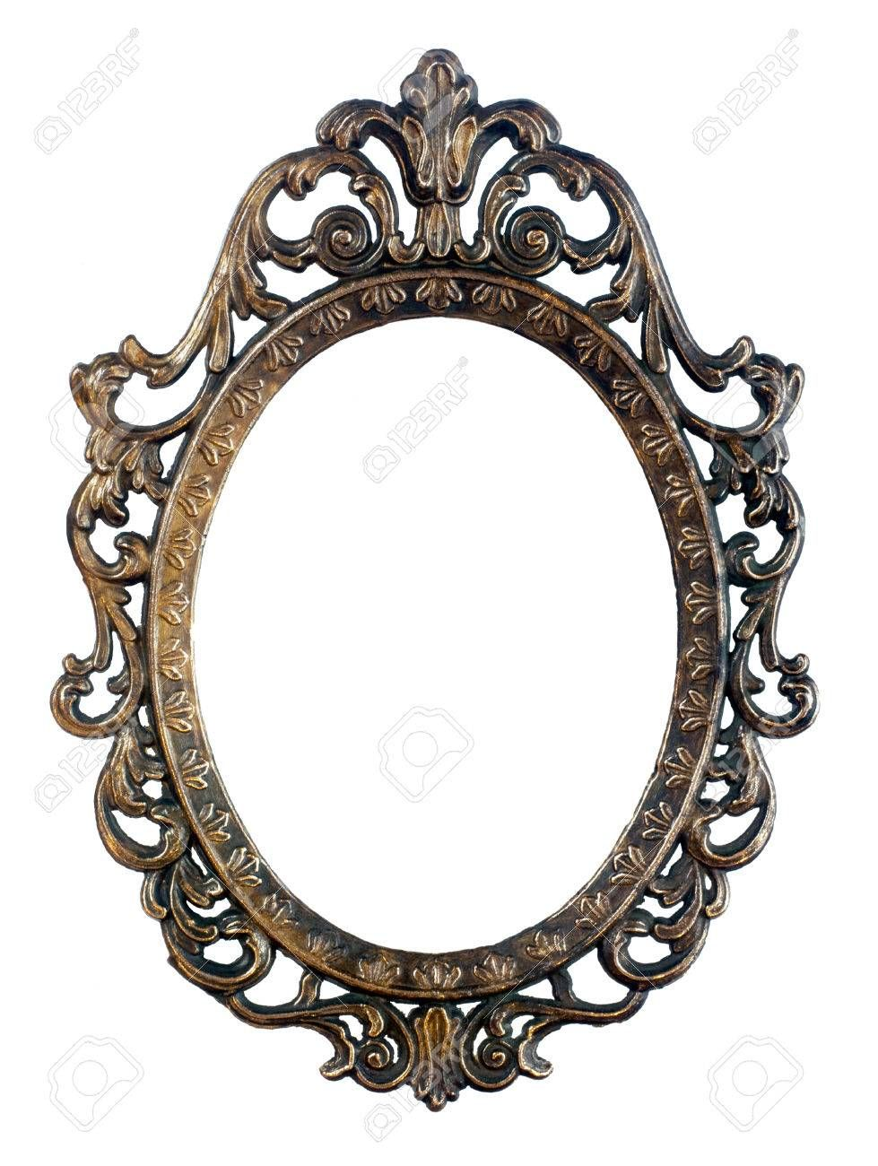 Bronze oval vintage frame isolated in 2018 | ink | Pinterest ...