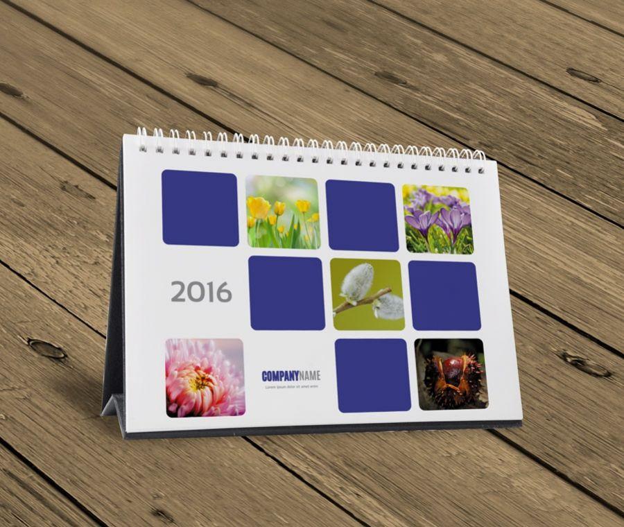 Desk table tent calendar 2016 template design KB10-W5 cover 1 & Desk table tent calendar 2016 template design KB10-W5 cover 1 ...