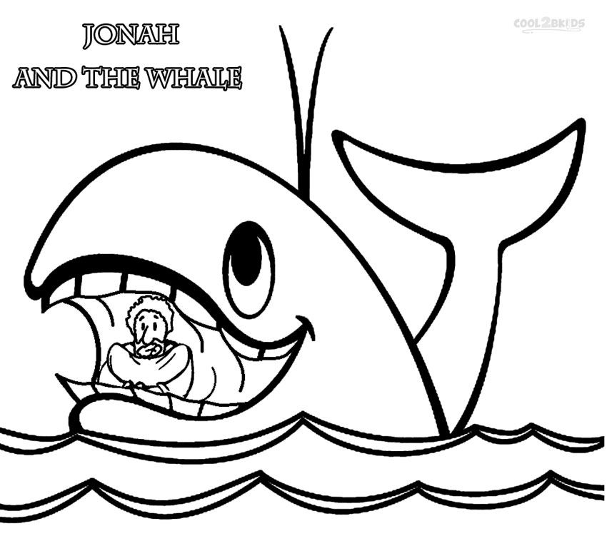 printable jonah and the whale coloring pages for kids cool2bkids - Jonah Whale Coloring Page