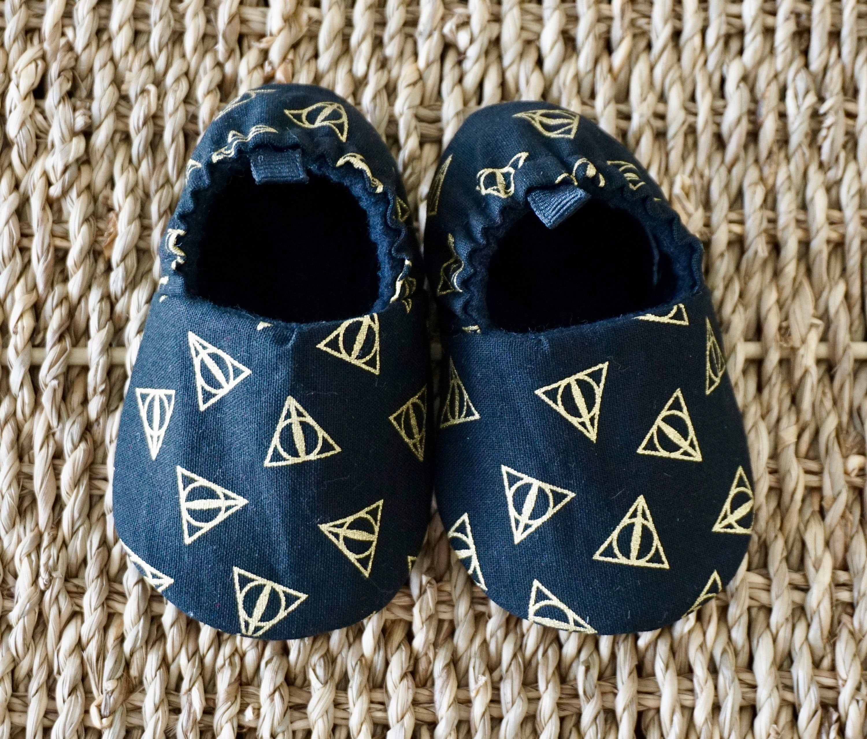 0848fa775 Harry Potter Baby Shoes, Deathly Hallows Shoes, Soft Sole Baby Shoes, Baby  gift, Baby Shower Gift, Baby Moccs, Baby Slippers, Toddler Shoes by ...