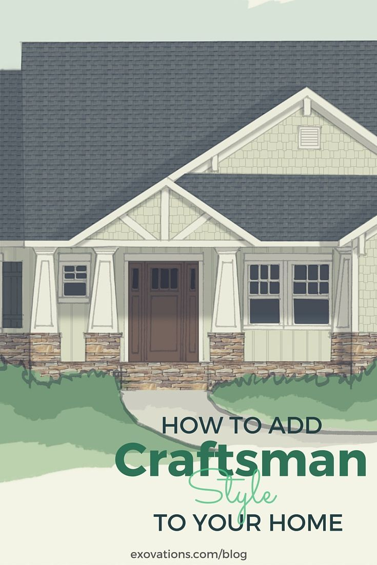 Craftsman Exterior Design Ideas Remodels Photos: How To Add Craftsman Style To Your Home's Exterior
