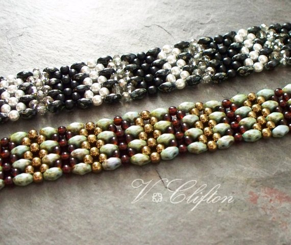 Beaded Bracelet Tutorial  Raw Using Super Duos  Bead Pattern  Step By Step With Detailed