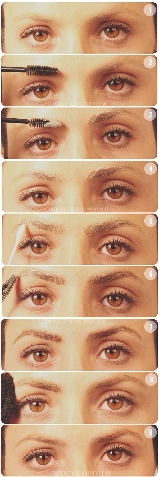 DARKENING YOUR EYEBROWS | Light eyebrows, Eyebrow and Lights