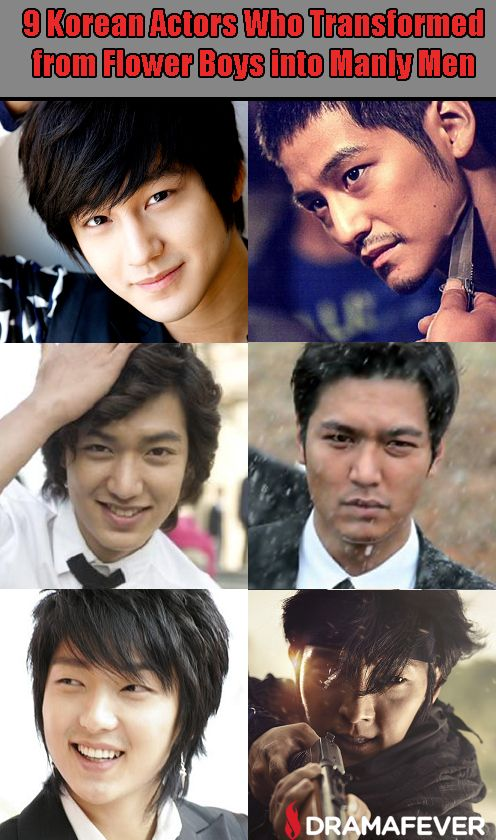 9 Korean Actors Who Transformed From Flower Boys Into Manly Men Korean Actors Actors Korean Pop Idol