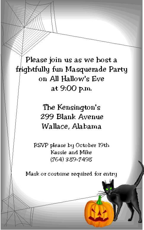 sample halloween invitations