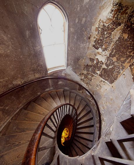 Back staircase in Brighton Pavilion, East Sussex, England;