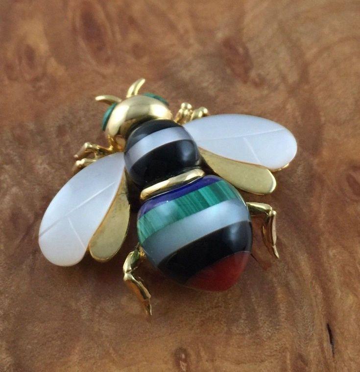 vente chaude en ligne moins cher remise chaude Details about ASCH GROSSBARDT 14K YELLOW GOLD BUMBLEBEE BEE ...