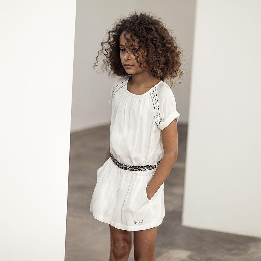 Robe blanche fluide femme