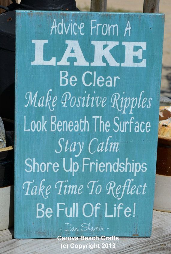 Advice From A Lake Sign, Lake House Decor, Lake Home Gift, Lake Wall Art,  Cabin Wood Plaque Picture Signs