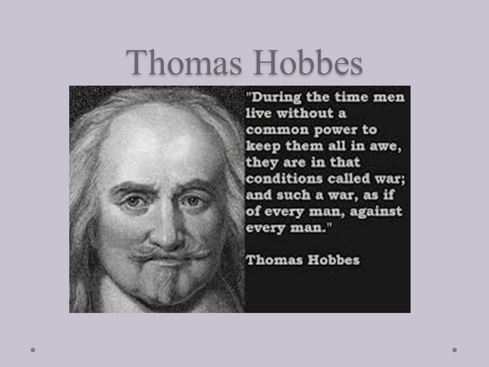 Thomas Hobbes Study Philosophy Philosophy Thomas