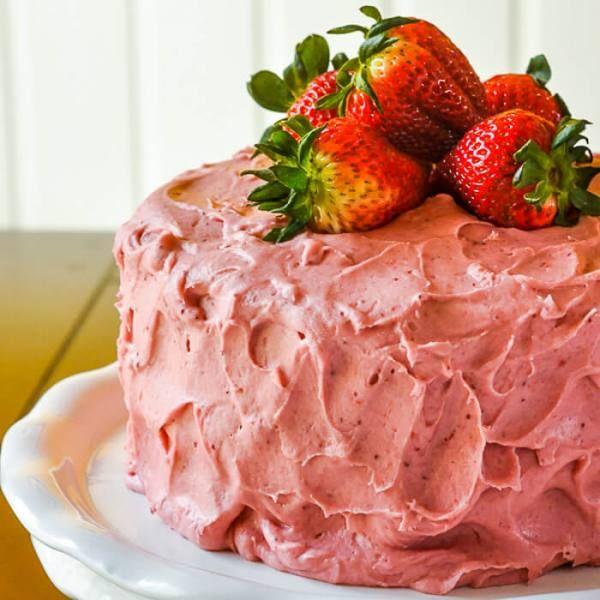 Strawberry Cake - no artificial colour or flavour