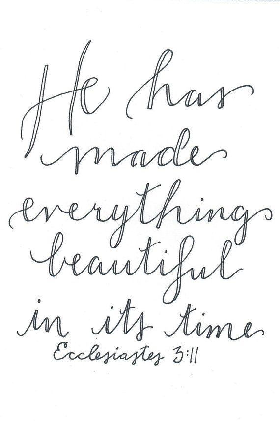 Ecclesiastes 3:11 Printable Digital Download by