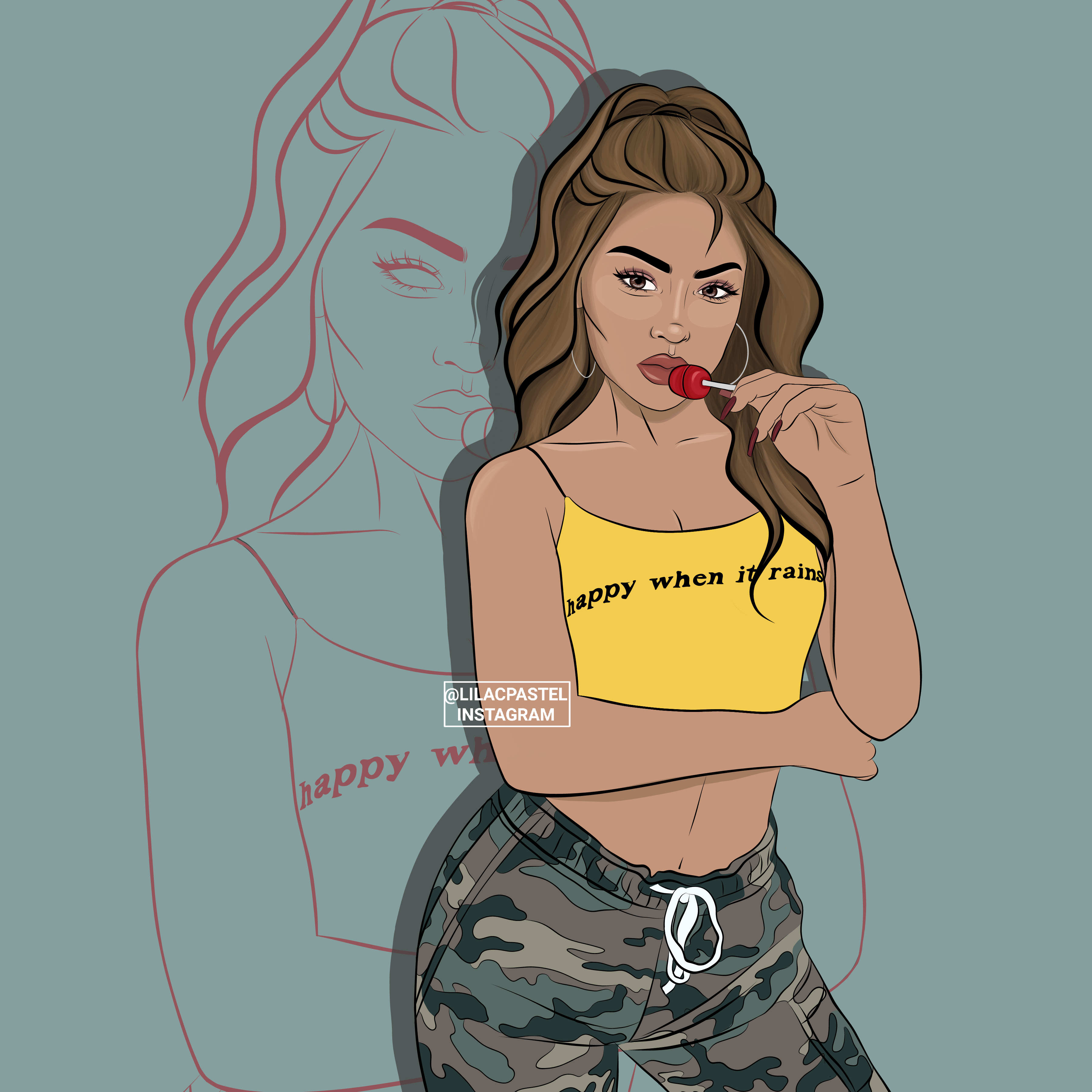 Baddie artwork illustration art koleendiaz