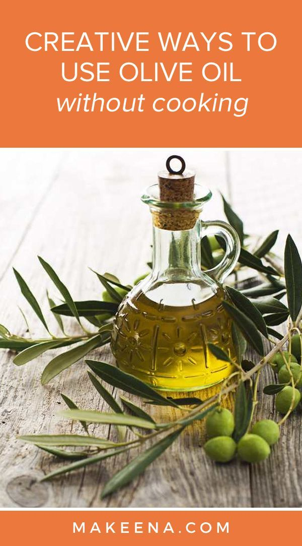 Naturally, when one thinks about olive oil or anything associated with its use, cooking is the first thing that instinctively jumps to mind.