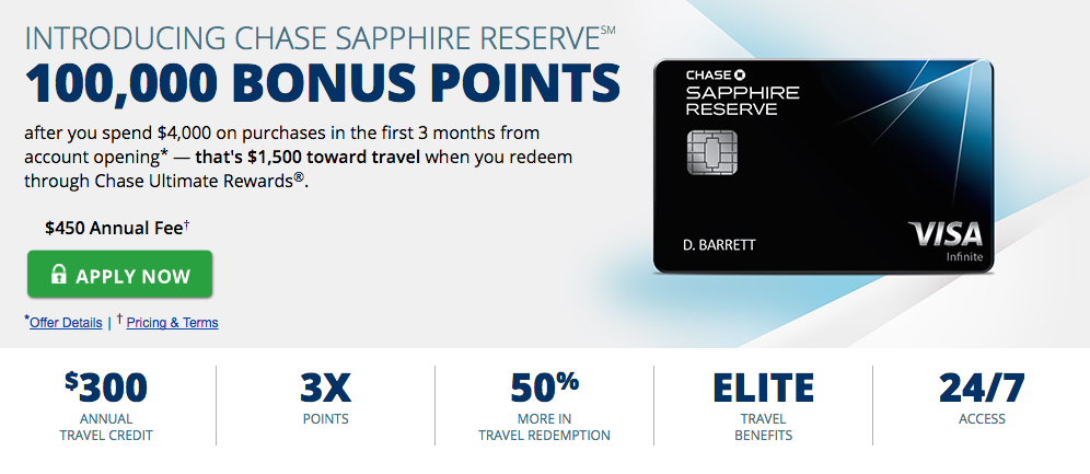 Now Live Chase Sapphire Reserve And 100 000 Bonus Points Travel Rewards Credit Cards Chase Sapphire Travel Rewards