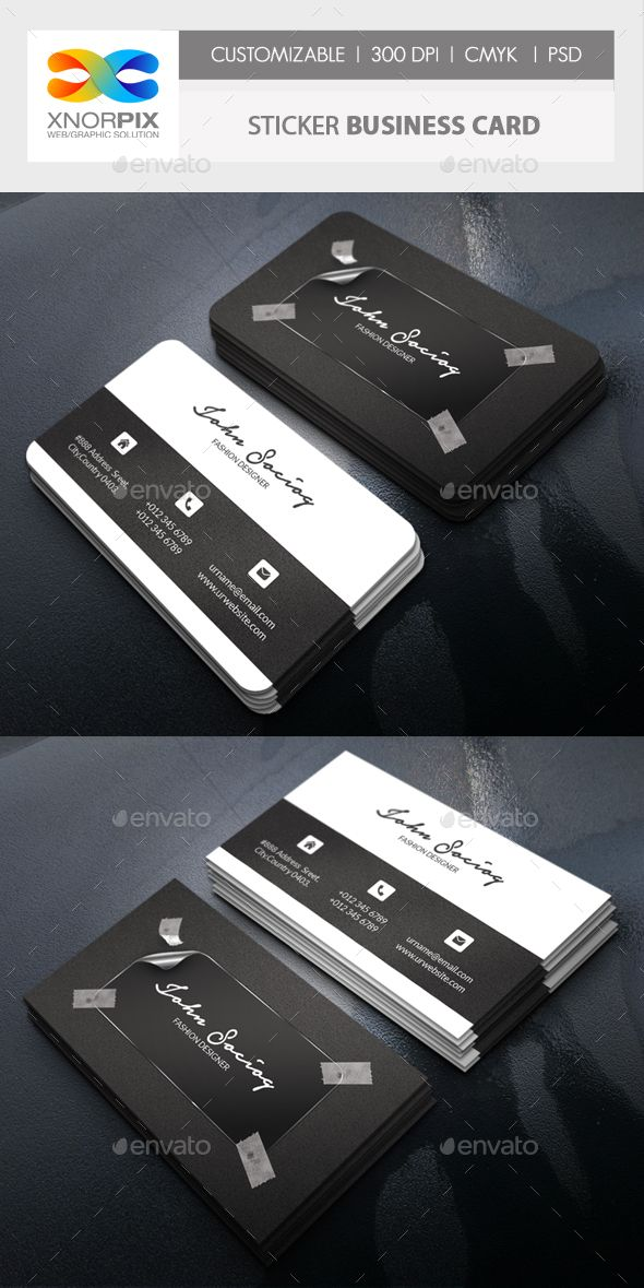 Sticker business card business cards business and font logo sticker business card colourmoves