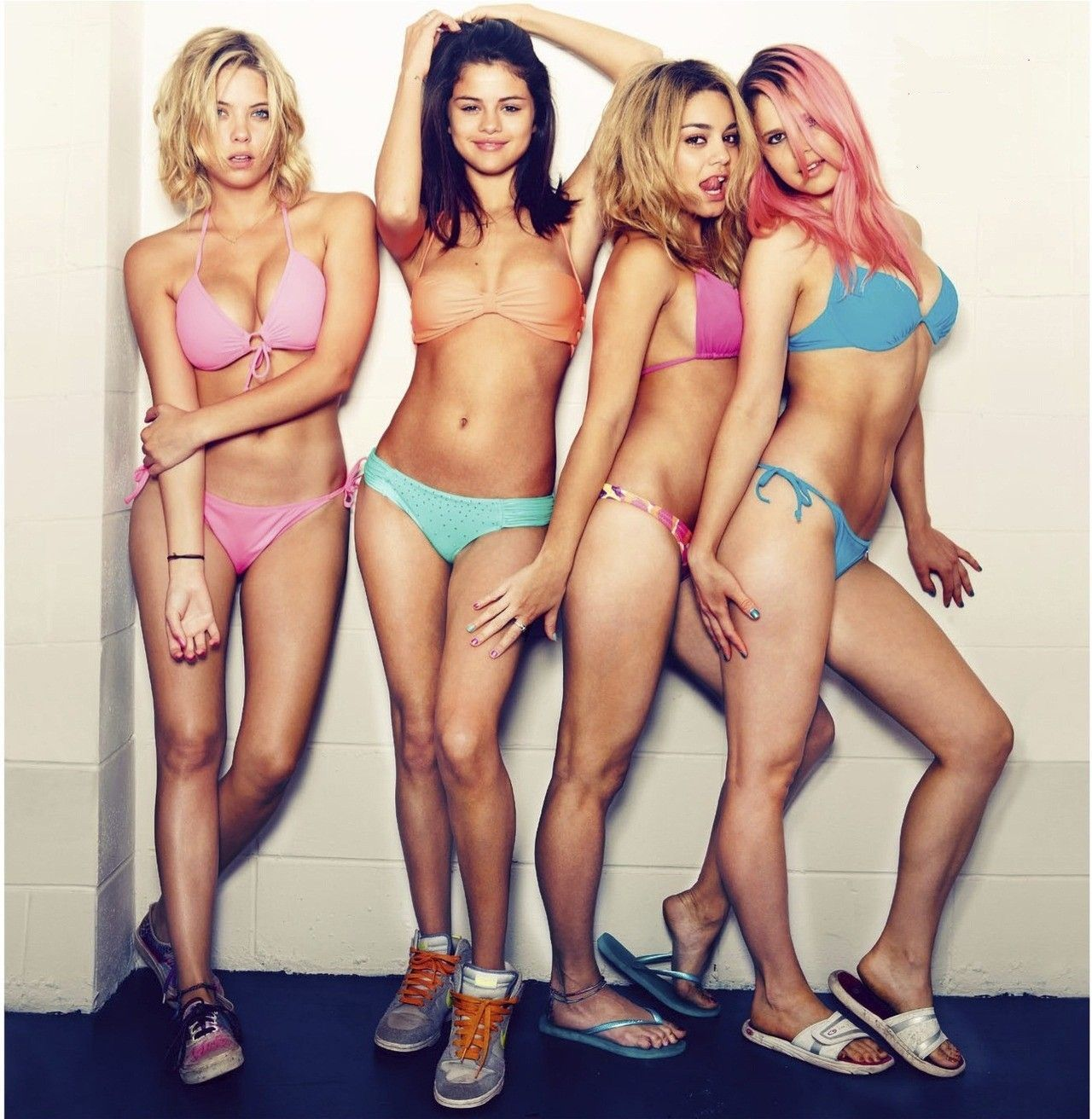 Spring breakers photocall venice film festiva vanessa hudgens selena gomez ashley benson james franco