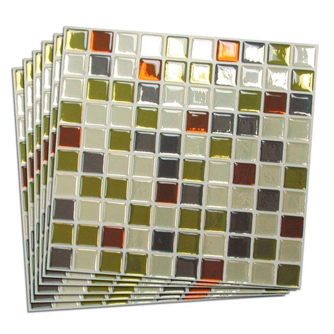 Roof Tiles Tuile Mosaique Murale Auto Adhésive Rona