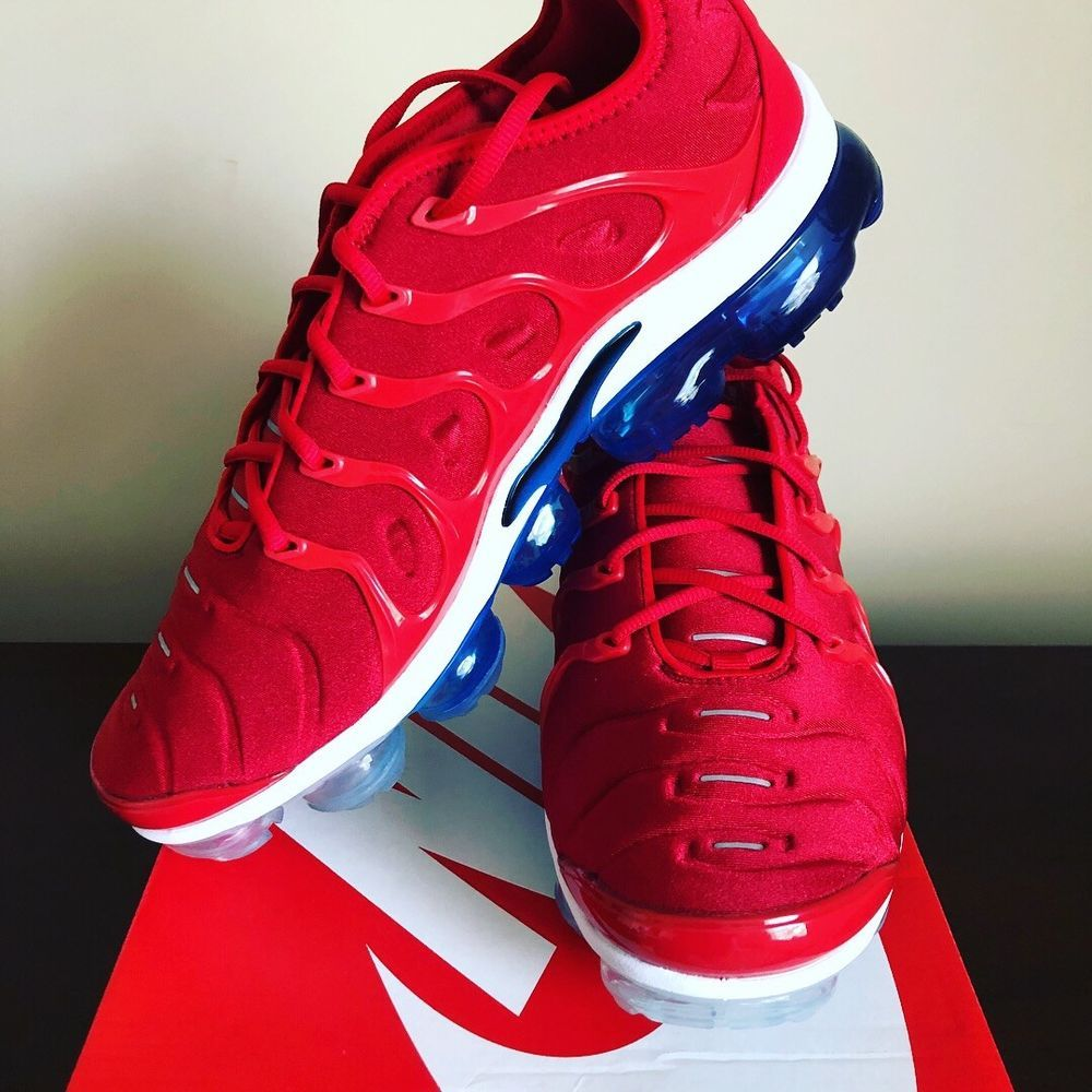 2ac5c53521a Nike Air Vapormax Plus USA University Red White Photo Blue Black ...