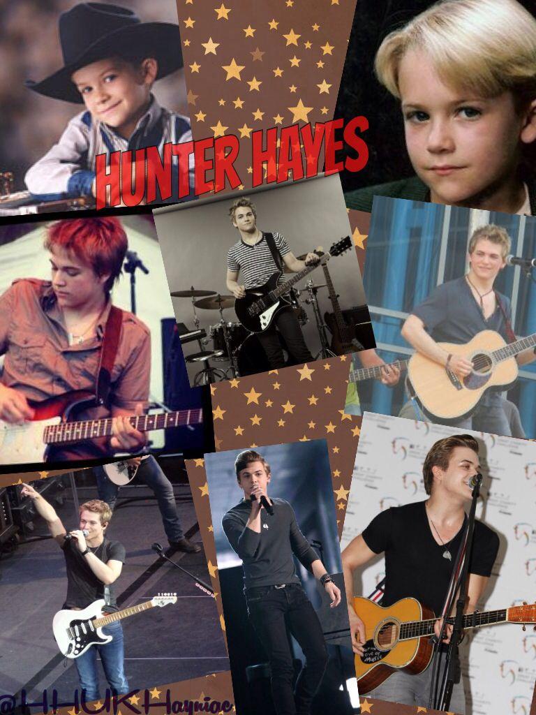 Hunter Hayes Collage With Pics Of Hunter At A Very Young Age To Now