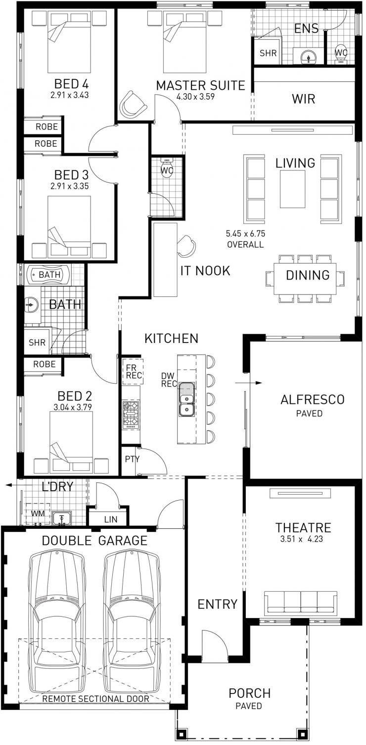 North Hampton, Single Storey Foundation Floor Plan, Western ...