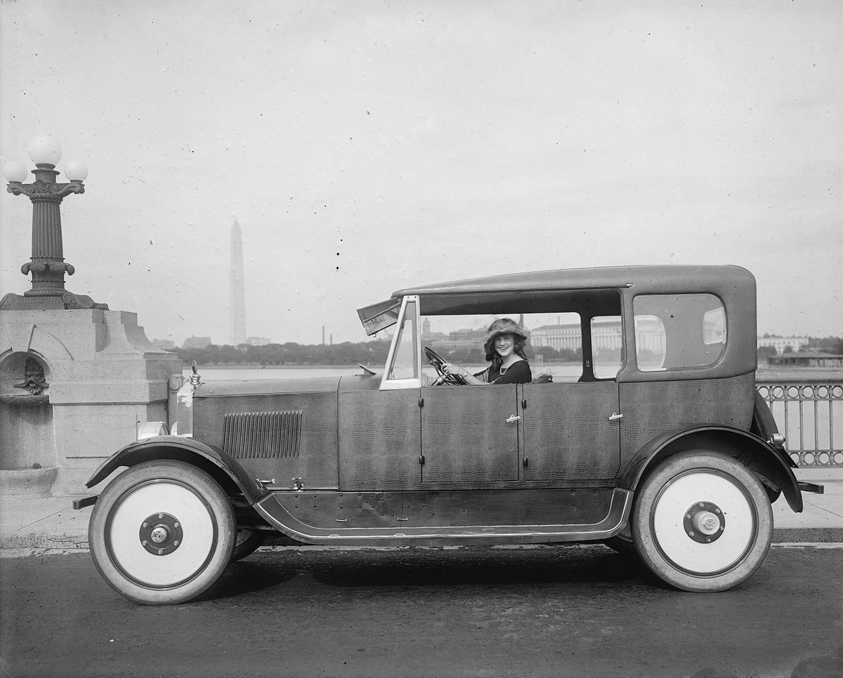 Margaret Gorman driving a Birmingham in 1921. Birmingham Motors was ...