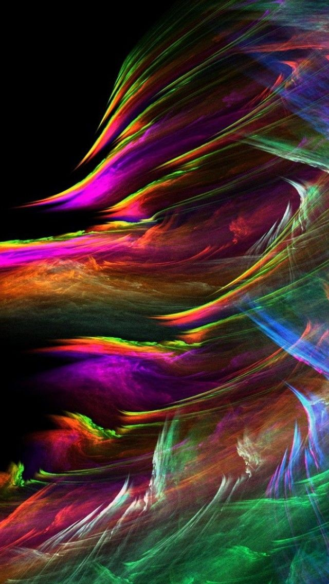 Windstorm Fractal iPhone 5s Wallpaper http//www