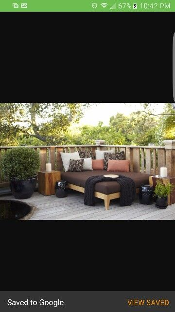 Outdoor Daybed | Relaxing backyard, Decor, Outdoor living ... on Living Spaces Outdoor Daybed id=93019