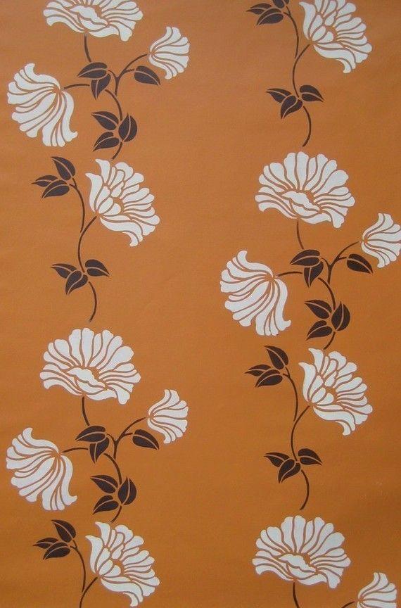 Wall stencil Poppy Stripe  Reusable stencil door CuttingEdgeStencils