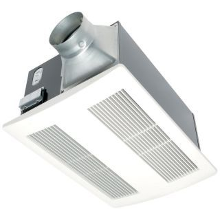 Panasonic Fv 11vh2 White Whisperwarm 110 Cfm 0 6 Sone Ceiling Mounted Energy Star Rated Bath Fan And Heater Combination With 4 Inch Duct Diameter Bathroom Heater Bathroom Fan Bathroom Exhaust