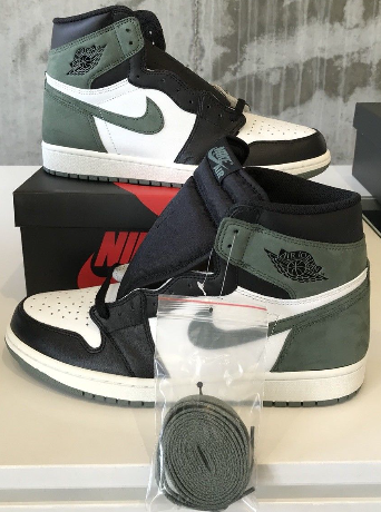 649313404fd7 The Air Jordan 1 Retro High Clay Green will be available on May 1st ...