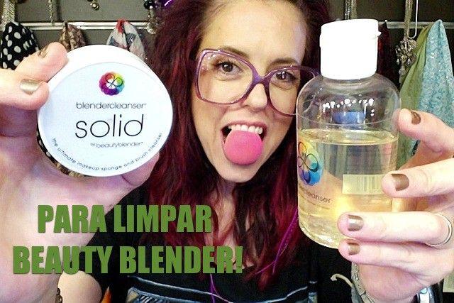Limpadores da Beauty Blender. Simplesmente fantástico para agilizar no dia a dia ❤ - Truques de Maquiagem / Paola Gavazzi