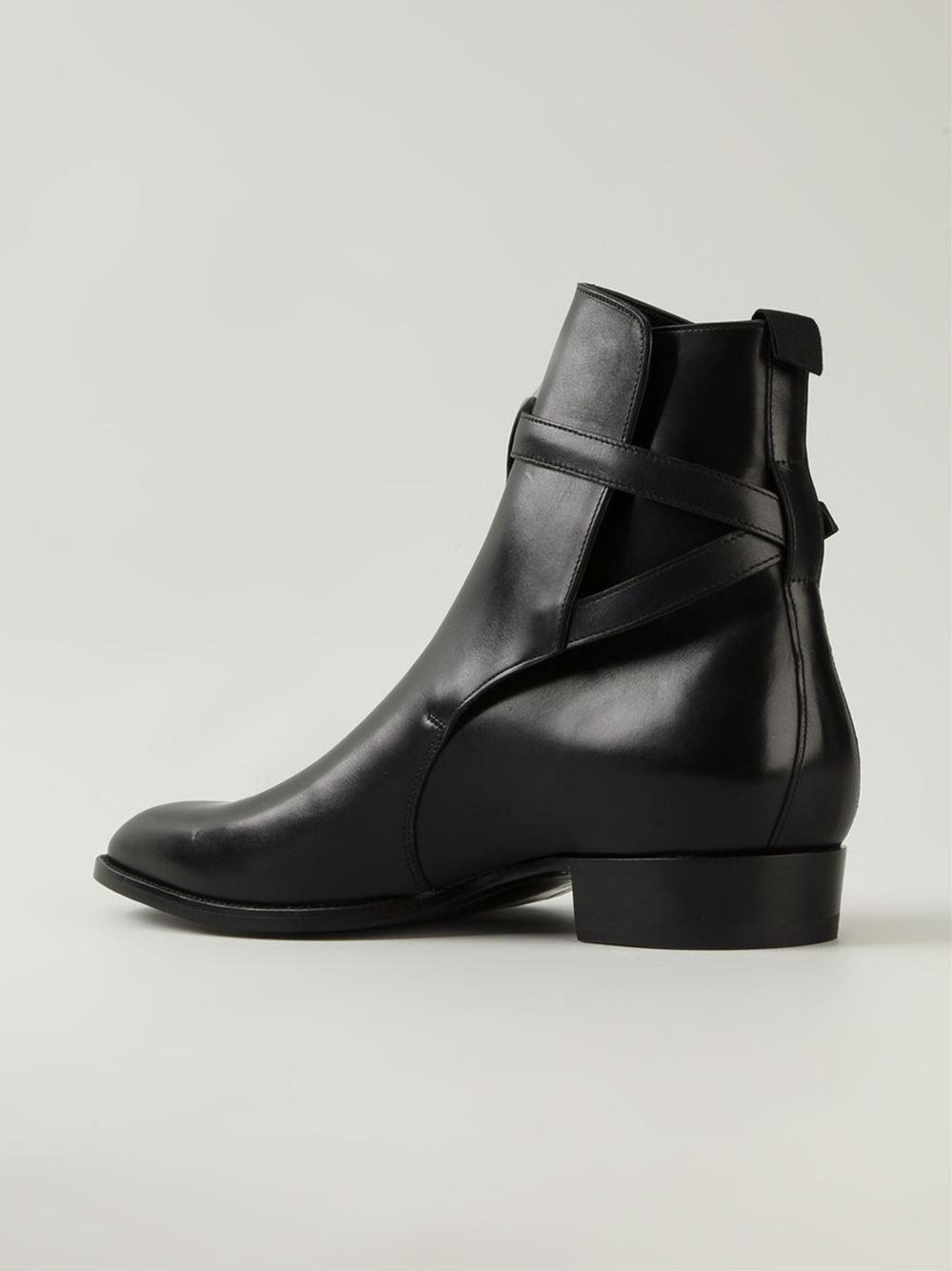 0a7ea0533a Handmade men black jodhpurs ankle boot, Men ankle high leather boot, Men's  boots - Boots