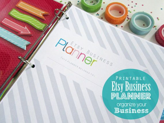 Shop Planner, Printable Pages, Inserts - Small Business, Online - business sales letter