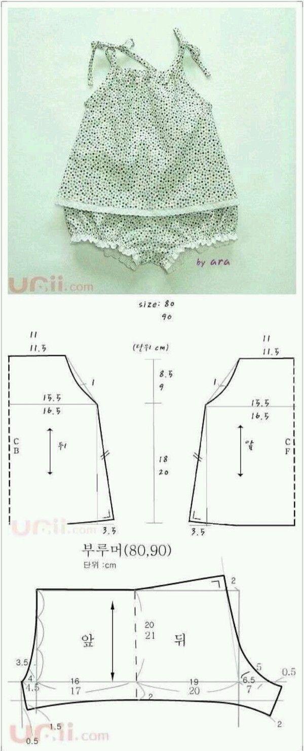 Resultado de imagen para moldes de calzones para bebes | patrones ...